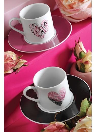 Kütahya Porselen Rüya 10234 Desen Kahve Fincan Takımı Renkli